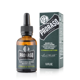 PRORASO olej na fúzy/bradu Cypress and Vetyver 30ml